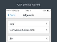 iOS7 - Settings (Refined)