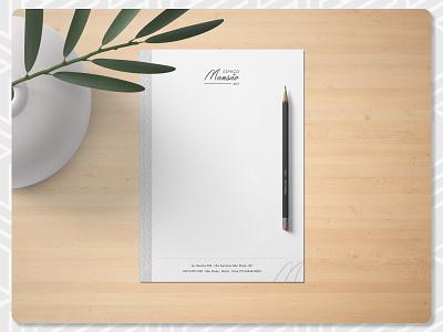 Espaço Mansão Stationery - Letterhead papel timbrado letterhead stationary stationary store illustrator clean minimal events design branding graphic design