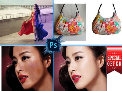 Photoshop Editing cliping path re size color replecemnts retouching background removal photoshop