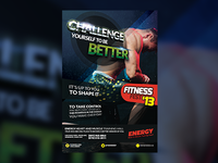 CHALLENGE Fitness Flyer Template