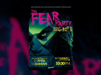 THE FEAR Party Flyer Template