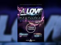 A LOVE STORM - Party Flyer Template