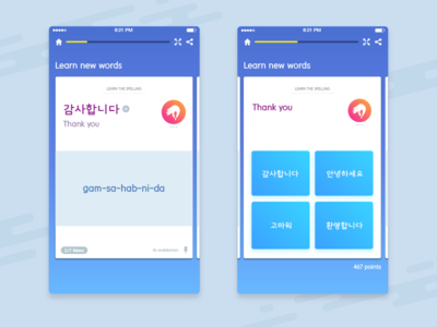 A UI A Day — Day #9: Memrise Rebound ux ui languages idioms memrise app mobile learning elearning space korean talktomeinkorean