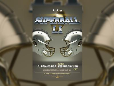 Superbowl Li — Flyer Template Design flare golden american football helmets realistic 3d template design flyer 2017 superbowl