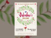 Valentine's Special — Restaurant Special Flyer