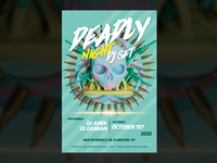 Deadly Night DJ Set — Party Flyer Template