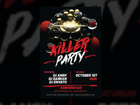 Killer Party — Party Flyer Design Template