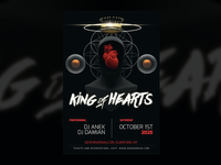 King of Hearts — Party Flyer Design Template