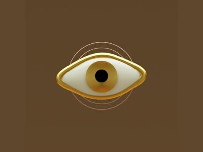 Awareness eye gold organic artlanguange language art awareness anxietyofimperfection