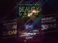 BEAUTY & A BEAT Party Flyer Template