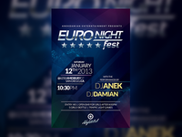 EURONIGHT Party Flyer Template