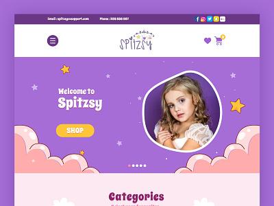 Children Ecommerce Website ecommerce creative branding ui design