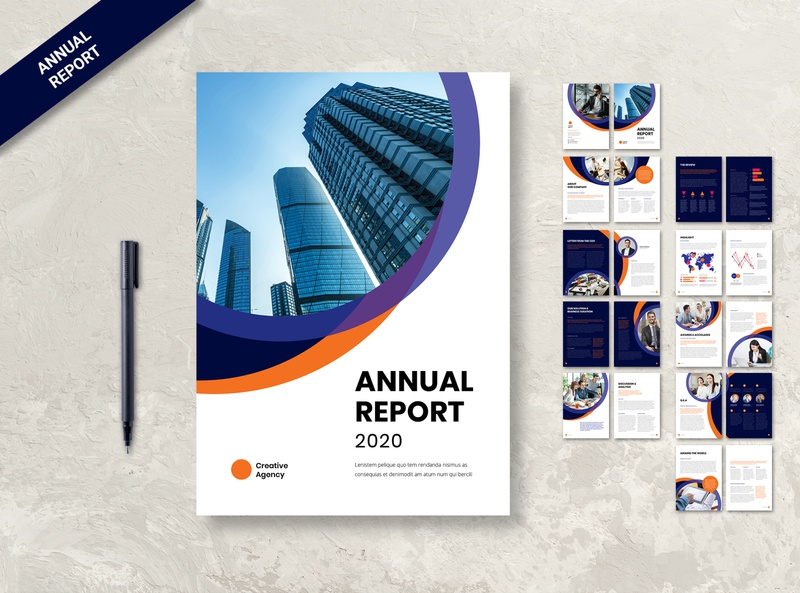 Annual Report Brochure Template professional modern minimalist magazine light letter informational infographics elegant design creative corporate company clean business brochure design branding annual report template annual report brochure annual report