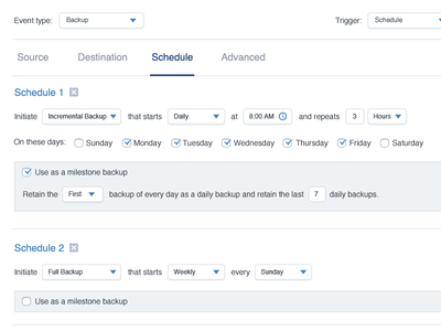 Scheduling Backups with natural language