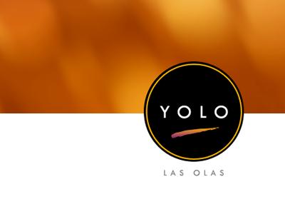 Yolo logo branding restaurant cafe