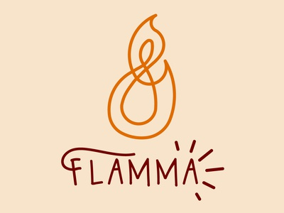 Flamma (Restaurant) day10 graphicdesign logo logodesign dailylogo design dailylogochallenge