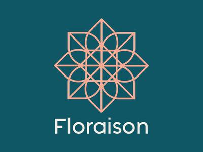 Floraison geometric logo geometric flower logo flower design logo logodesign graphicdesign dailylogo dailylogochallenge