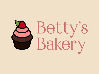 Betty's Bakery cupcake logo cupcake logo logodesign graphicdesign design dailylogo dailylogochallenge