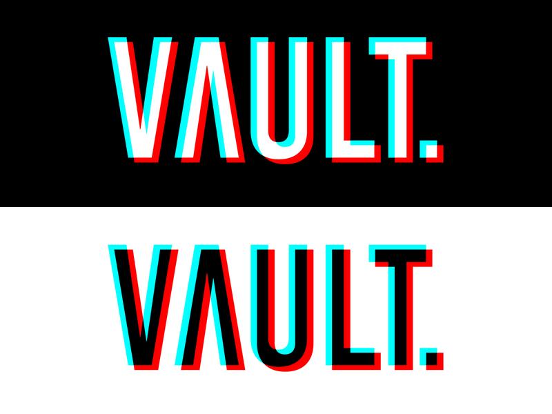 Daily Logo Challenge #28 - VAULT. glitch clothing logo clothing brand graphicdesign design logo logodesign dailylogo dailylogochallenge