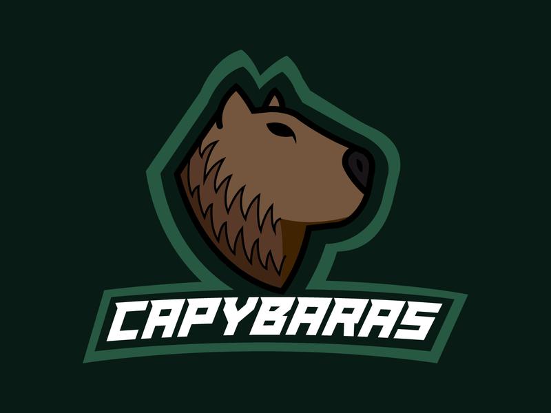 Daily Logo Challenge #32 - CAPYBARAS team logo sports team sports logo capybara graphicdesign design logo logodesign dailylogo dailylogochallenge