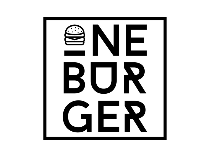 Daily Logo Challenge #33 - ONE BURGER burger joint hamburger burger burger logo black and white graphicdesign design logo logodesign dailylogo dailylogochallenge