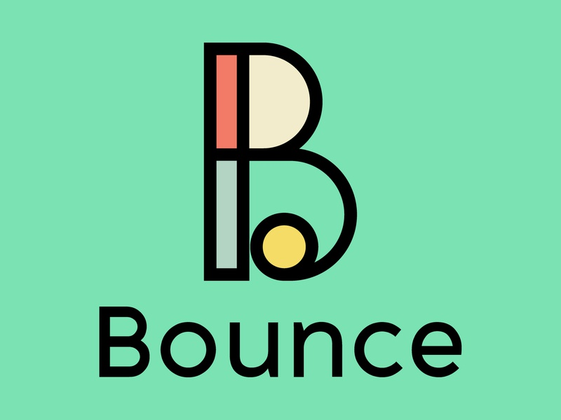 Daily Logo Challenge #34 - Bounce bounce graphicdesign design logo logodesign dailylogo dailylogochallenge