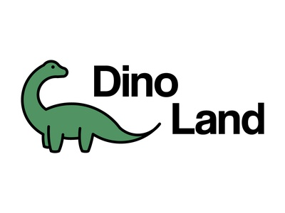 Daily Logo Challenge #35 - Dino Land dino dinosaur graphicdesign design logo logodesign dailylogo dailylogochallenge