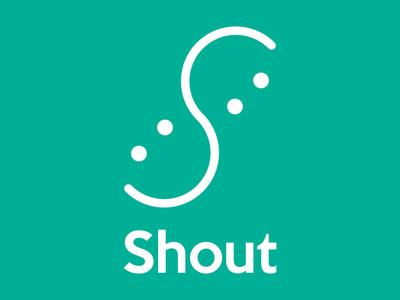 Daily Logo Challenge #39 - Shout social app social media chat app smiley face messaging app graphicdesign design logo logodesign dailylogo dailylogochallenge