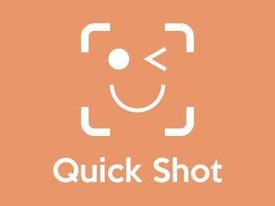 Daily Logo Challenge #40 - Quick Shot app logo app icon camera app graphicdesign design logo logodesign dailylogo dailylogochallenge