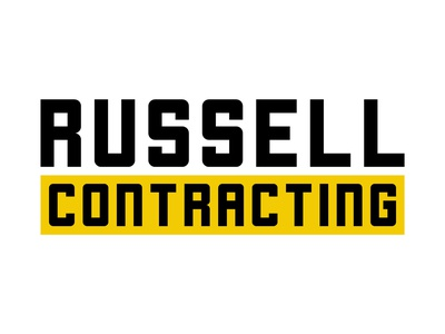 Daily Logo Challenge #45 - Russell Contracting construction construction company construction logo graphicdesign design logo logodesign dailylogo dailylogochallenge