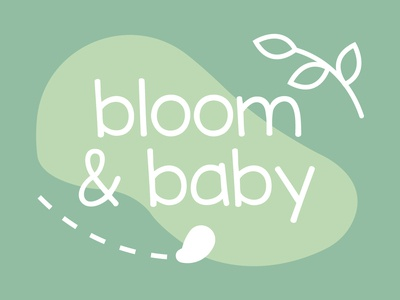 Daily Logo Challenge #46 - bloom & baby baby products baby clothing baby graphicdesign design logo logodesign dailylogo dailylogochallenge