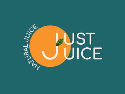 Daily Logo Challenge #47 - Just Juice juice logo graphicdesign design logo logodesign dailylogo dailylogochallenge