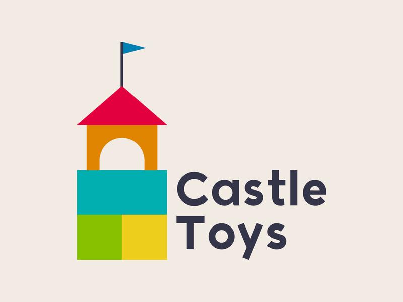 Daily Logo Challenge #49 - Castle Toys toy store toy graphicdesign design logo logodesign dailylogo dailylogochallenge