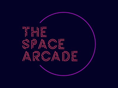 Daily Logo Challenge #50 - The Space Arcade neon arcade game arcade graphicdesign design logo logodesign dailylogo dailylogochallenge