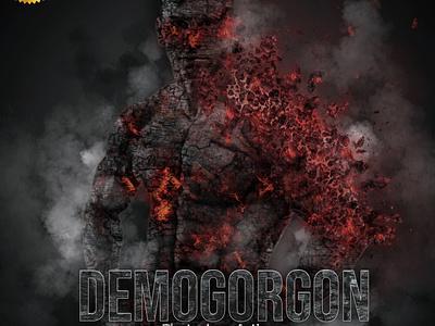 Demogorgon Photoshop Action jumping elemental portrait element cinematic action dance illustration design logo