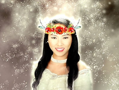 6Diwata Photoshop Action red green smoke design colorful jumping dance elemental illustration portrait element cinematic action