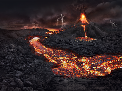 ILLUSTRATION: Volcano