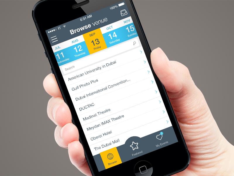 IOS: Showper ios app iphone show date map picker ui guy list