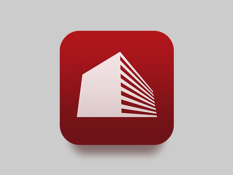 "ICON: Real Estate App ""Etagi"" icon ios ios 7 app iphone red real estate build"