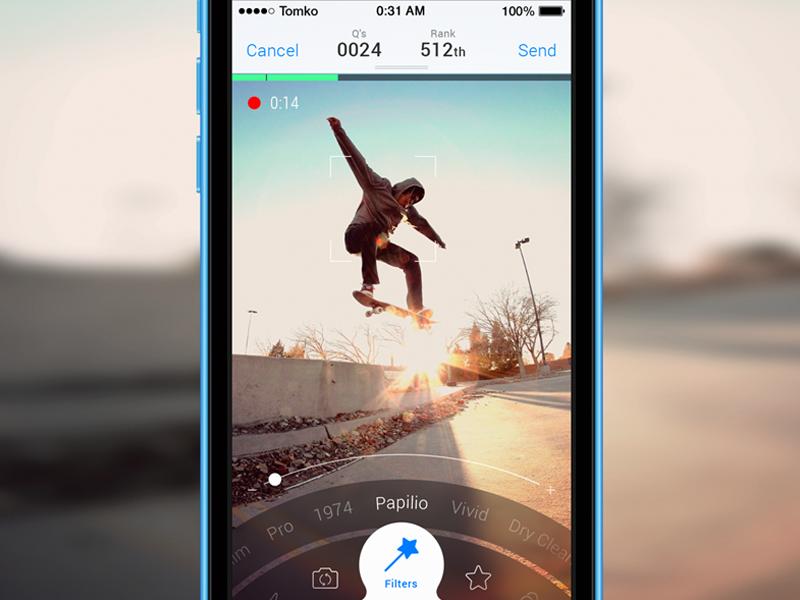 iOS: Camera Screen camera iphone ios video filter circle app timeline zoom menu