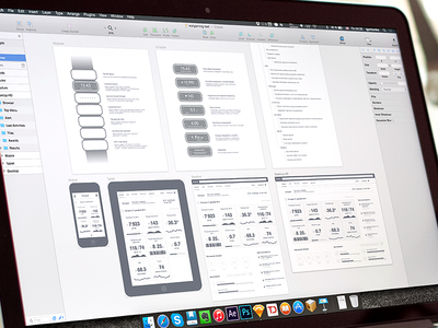 Wireframe: Fitness band concept