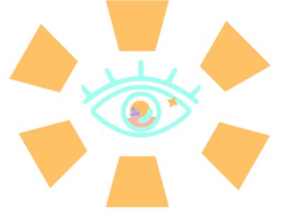 Eye vector design illustration