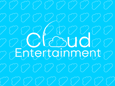 Cloud entertainment logo branding vector illustration design