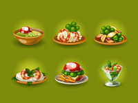Food icons for game (50% real size)