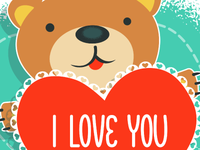 St. Valentine card template
