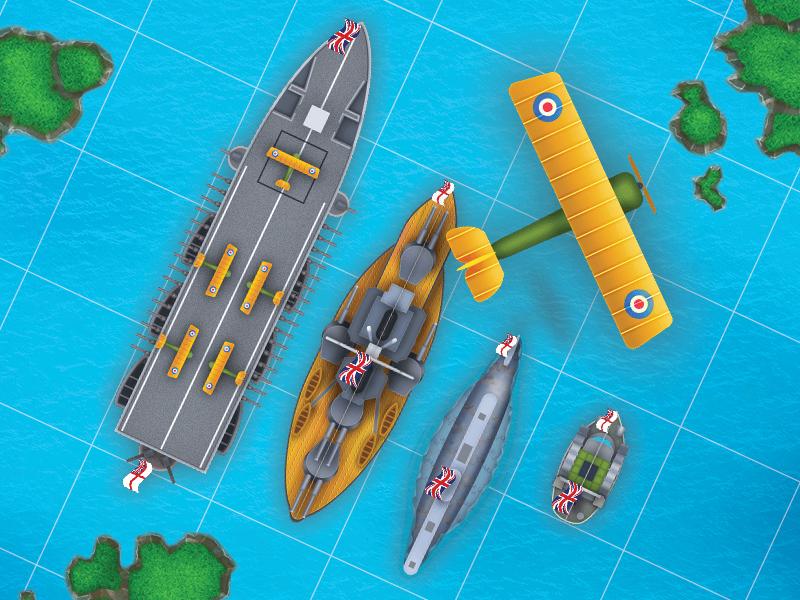 Ship apck for iMessage game. Great Britan. game ux iu pack skin imessage ship