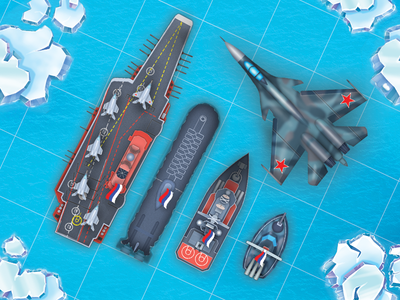 Russian Navy war aircraft ui mobile game ships navy