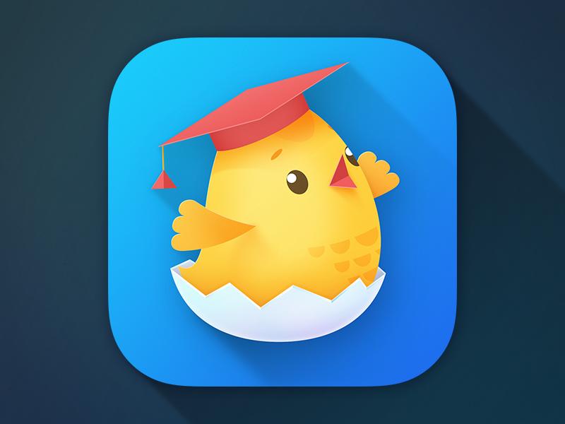 Children App Icon chicken educational game smart children