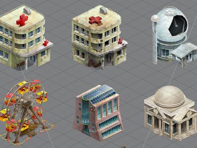 Buildings for game (izometric)
