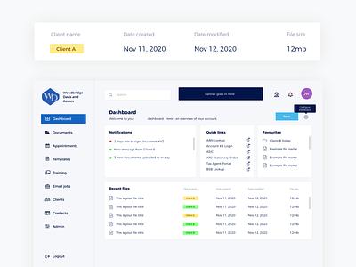 Dashboard concept product design dashboard